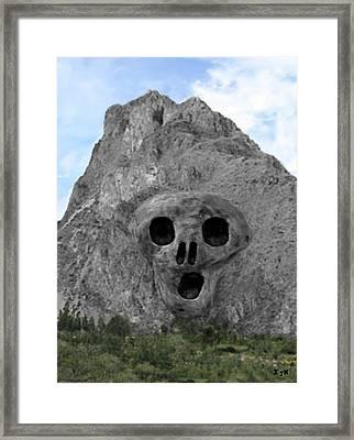 Heavy Rock Scream Framed Print by Eric Kempson