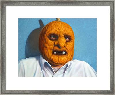 Heavy Vegetable-head Framed Print by James W Johnson