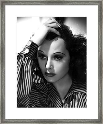 Hedy Lamarr, 1939, Photo By Clarence Framed Print by Everett