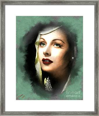 Hedy Lamarr Framed Print by Arne Hansen