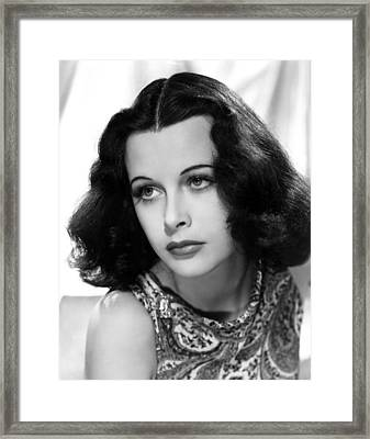 Hedy Lamarr, C. Early 1940s Framed Print by Everett