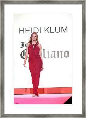 Heidi Klum In Attendance For The Heart Framed Print by Everett