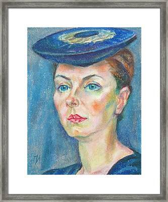 Helene Tedre Framed Print by Leonid Petrushin