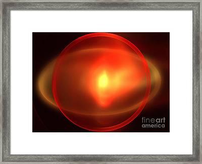 Heliosphere Framed Print by Kim Sy Ok