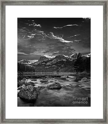 Hell Roaring Lake Framed Print by Keith Kapple