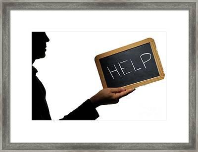 Help Framed Print by Sami Sarkis