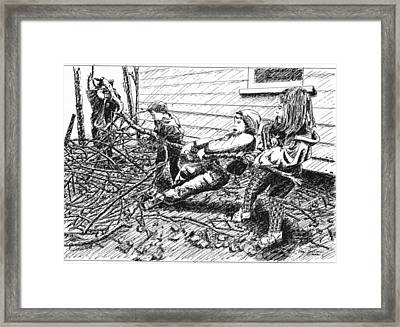 Helping Hands Framed Print by Rom Galicia