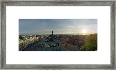 Helsingborg At Sunset Framed Print by Jan Faul