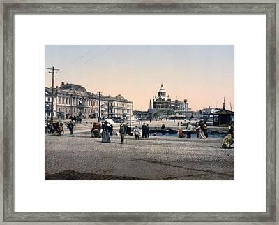 Helsinki Finland - Senate Square Framed Print by Bode Stevenson