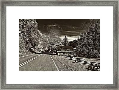 Helvetia Wv Monochrome Framed Print by Steve Harrington