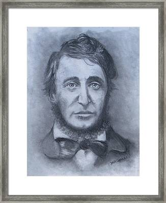 Henry David Thoreau Framed Print by Jack Skinner