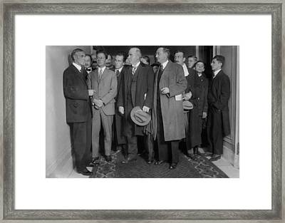 Henry Ford 1863-1947 With Reporters Framed Print by Everett