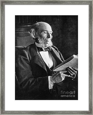 Herbert Spencer, English Polymath Framed Print by Science Source