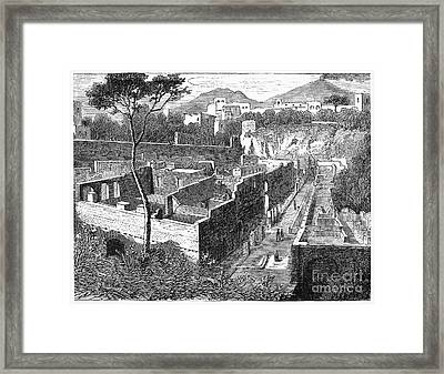 Herculaneum: Library Framed Print by Granger
