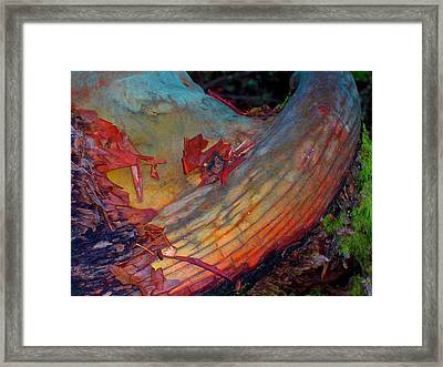 Framed Print featuring the digital art Here And Now by Richard Laeton