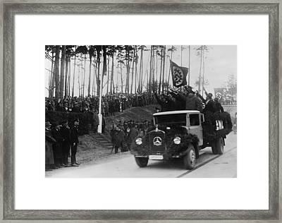 Hermann Goring In Group At Left Framed Print by Everett
