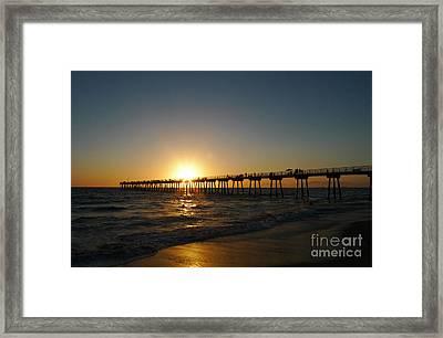 Hermosa Beach Sunset Framed Print by Nina Prommer