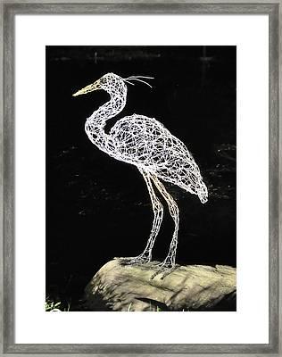 Heron Framed Print by Tommy  Urbans