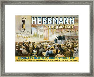 Herrmann The Great Framed Print by Unknown