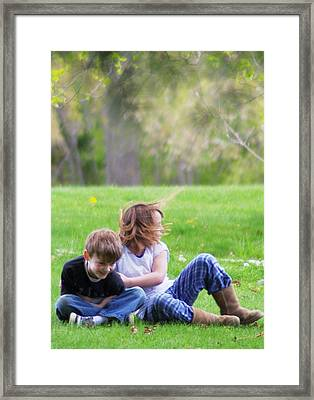 He's Mine Framed Print by John Conrad Johnson III