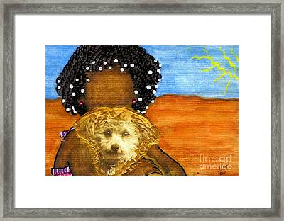 He's My Very Best Friend Framed Print by Angela L Walker
