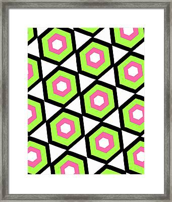 Hexagon Framed Print by Louisa Knight