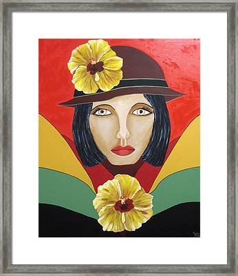 Hibiscus Lady Framed Print by Susan McLean Gray
