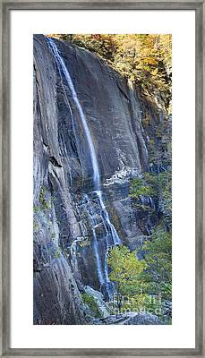 Hickory Nut Falls Chimney Rock State Park Framed Print by Dustin K Ryan
