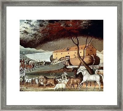 Hicks: Noahs Ark, 1846 Framed Print by Granger
