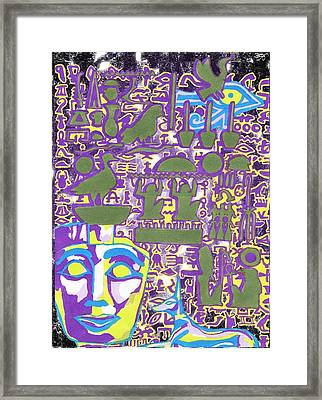 Hieroglyphics Framed Print by Ben Leary