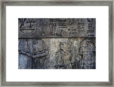Hieroglyphs Framed Print by Lee Dos Santos