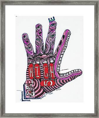 High 5 Yell Framed Print by Robert Wolverton Jr