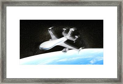 High Altitude Passenger Plane, Artwork Framed Print by Christian Darkin