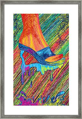 High Heels Abstraction Framed Print by Pierre Louis