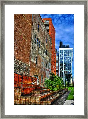 High Line Park Scene Framed Print by Randy Aveille