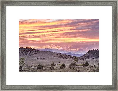 High Park Fire Larimer County Colorado At Sunset Framed Print by James BO  Insogna