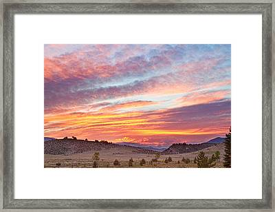 High Park Wildfire Sunset Sky Framed Print by James BO  Insogna