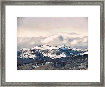 High Sierra Mountains Framed Print by Phyllis Kaltenbach