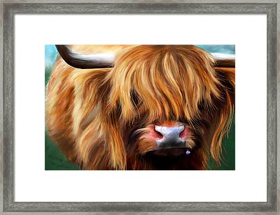 Highland Cow Framed Print by Michelle Wrighton