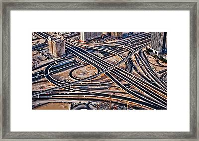 Highway Intersection Of Framed Print by Miemo Penttinen - miemo.net