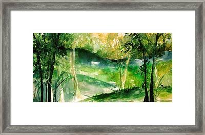 Hills Of Arkansas Framed Print by Robin Miller-Bookhout