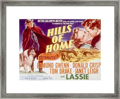 Hills Of Home, Lassie, Edmund Gwenn Framed Print by Everett