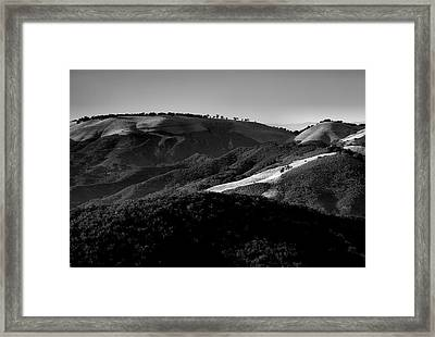 Hills Of Light And Darkness II Framed Print by Steven Ainsworth