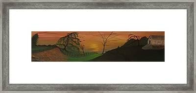 Hillside Framed Print by Shadrach Ensor