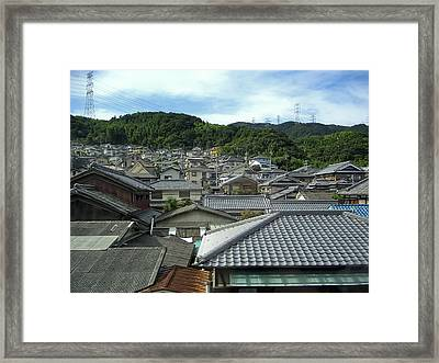 Hillside Village In Japan Framed Print by Daniel Hagerman