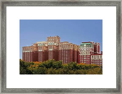 Hilton Chicago And Blackstone Hotel Framed Print by Christine Till