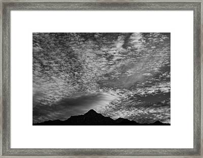 Himalayan Sky In Black And White Framed Print by Don Schwartz