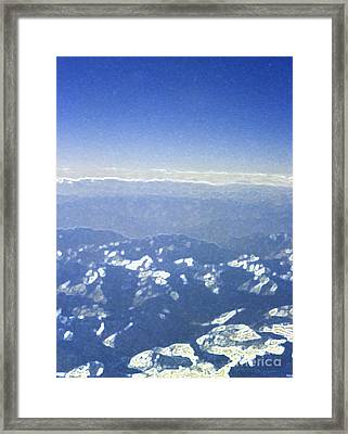 Himalayas Blue Framed Print by First Star Art