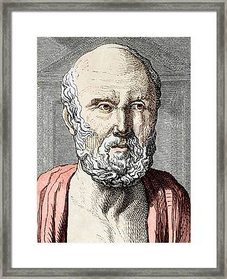 Hippocrates, Ancient Greek Physician Framed Print by Sheila Terry