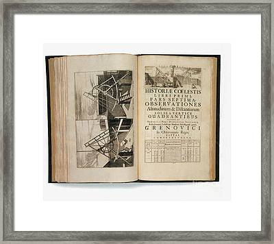 Historia Coelestis Britannica, 18th Framed Print by Photo Researchers